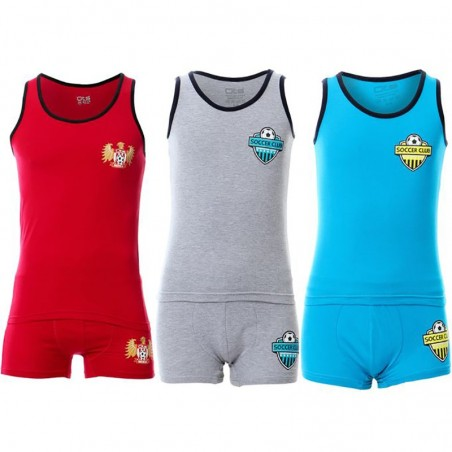 O T S Bundle of Three Sleeveless Top & Short - For Boys