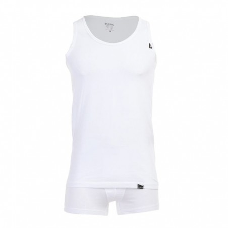 Blanc Set OF (4) Sleeveless & Boxer Undershirt Blanc - For Men