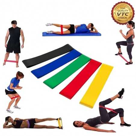 Fashion Elastic Sports Rubber Fitness Resistance Band Ring Training Resistance Band