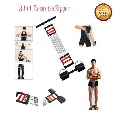 Easy Adjustable Chest Expander 5 Ropes Resistance Exercise System Bands Strength Trainer for Home Gym Muscle Training Exerciser