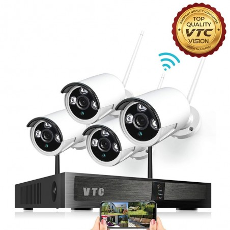 1080p Wireless Security Camera System, 8ch NVR Kit