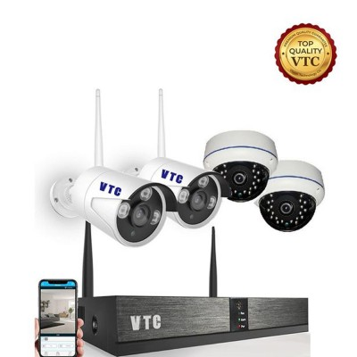 VTC Wireless Video Security CCTV Surveillance System, 4CH WIFI NVR Kits