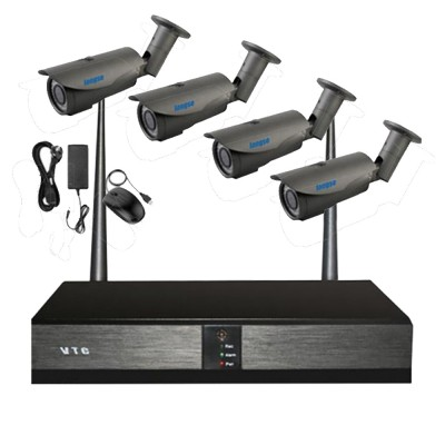 Wireless Outdoor Security Camera System 1.3MP, IP66, 8ch NVR Kit