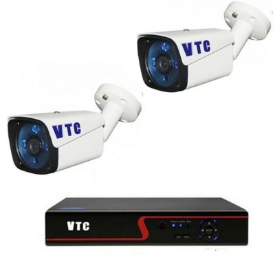AHD 4 Channel DVR, 2Vandal Proof CCTV Cameras 2MP